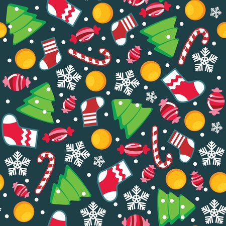 Two christmas seamless wallpaper pattern Vector