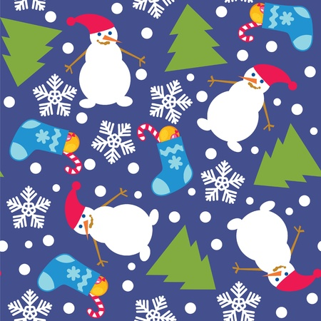 Christmas seamless backgroundFour color variants on different layers Vector