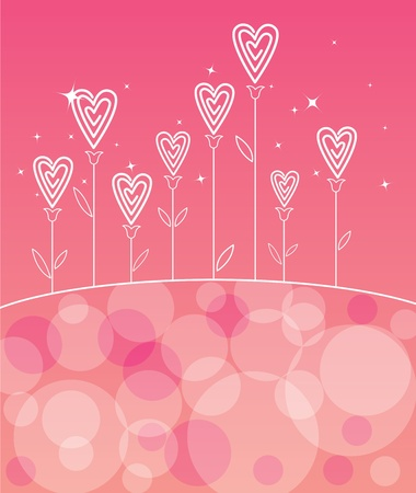 Valentines love flower - Valentines day background Stock Vector - 11579441
