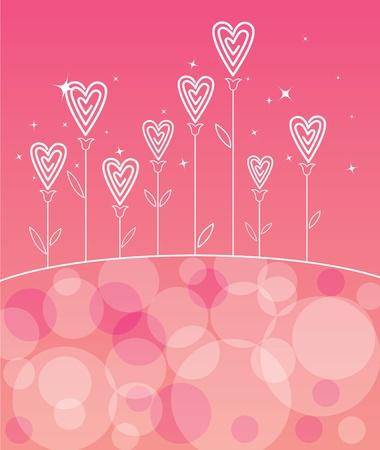 Valentines love flower - Valentines day background