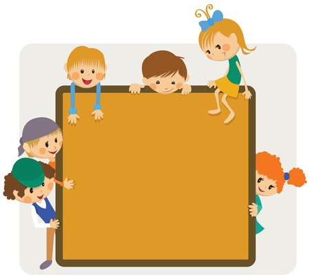 Kids frame notice Vector