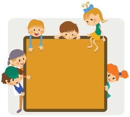trẻ em: Thông báo khung Kids Hình minh hoạ