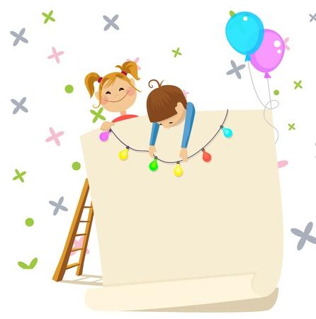 Children party invitation Ilustrace