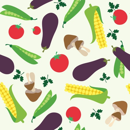 group pattern: Vegetable seamless  pattern