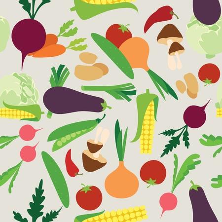 green vegetables: Vegetable seamless  pattern