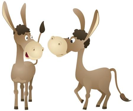 jackass: Funny cartoon donkey Illustration