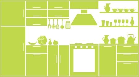 cuchillo de cocina: Cocina silueta