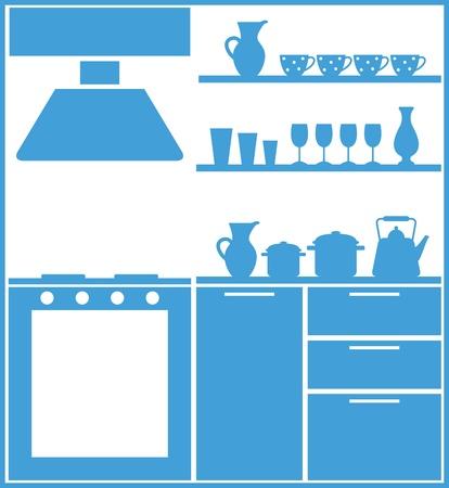 Kitchen silhouette Stock Vector - 13307561