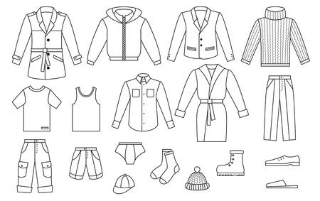 Hose: Skizzieren Herren Bekleidungskollektion Illustration