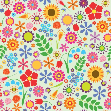 Abstract elegance seamless pattern with floral background  Vector