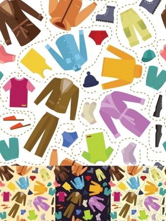 Seamless - mens clothing Stock Vector - 14559550