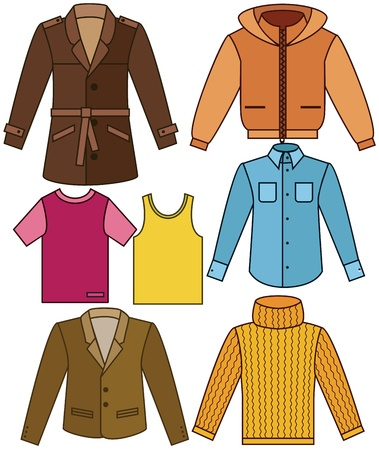 men's clothing: Mens clothing collection Illustration