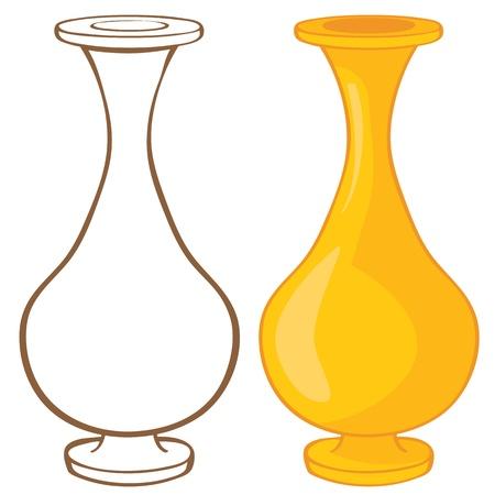 vase color: Vase  Color and contour illustration Illustration