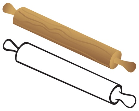 rolling pin: Rolling pin for dough