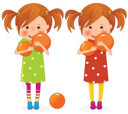 오렌지 공 두 여자와 쌍둥이
