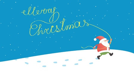 Santa Claus - christmas background Vector