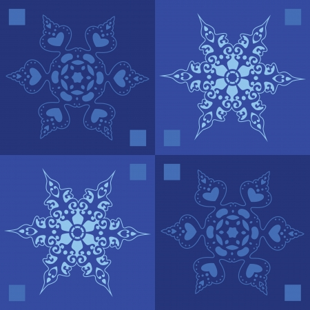 Seamless - snowflakes winter background Vector