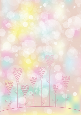 Valentines love flower background EPS10  Contains transparent objects  Cropped using clipping mask  Stock Vector - 17695304