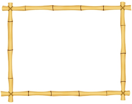 Bamboo frame EPS10  Contains transparent objects used for bamboo drawing