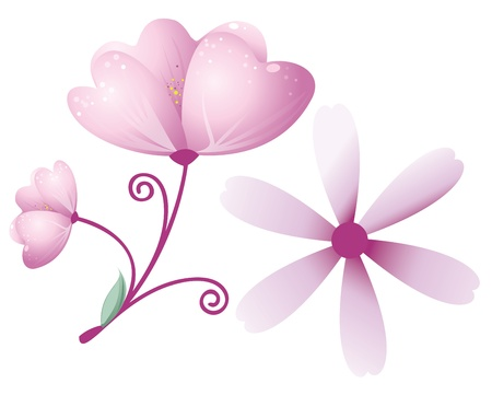 Purple flower - design element