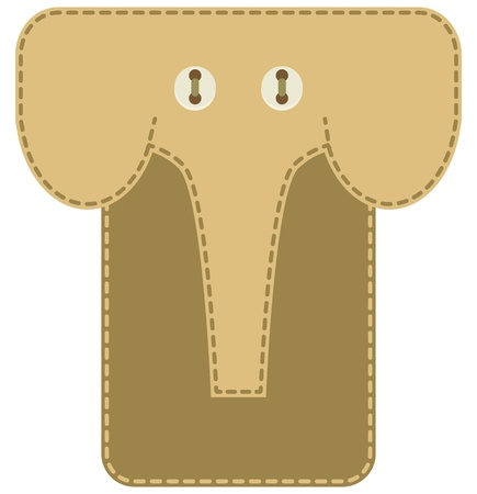Case for mobile phone - elephant Stock Vector - 21601613
