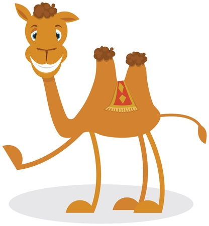 hump: Cartoon camello Vectores