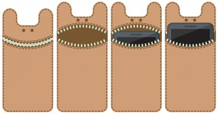 Case for mobile phone - monster Stock Vector - 21601664