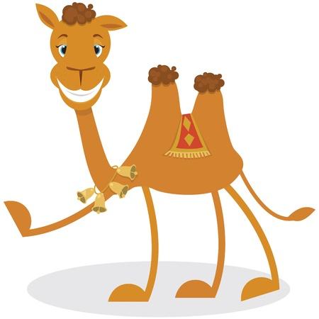 camel hump: Cartoon camel Illustration