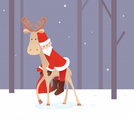 Weary Santa Claus Vector