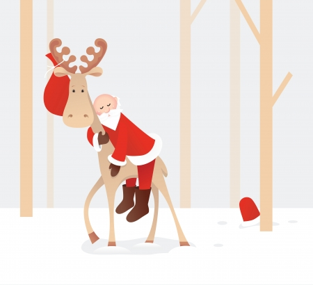 weary: Weary Santa Claus Illustration
