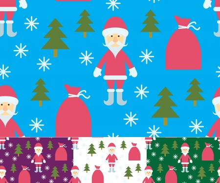 Christmas seamless - Santa Claus and gifts Vector