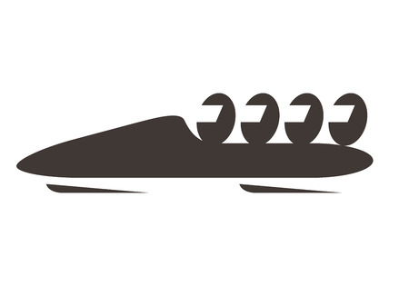 bobsled: Bobsled icon Illustration
