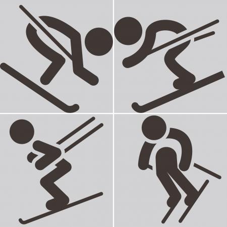 downhill skiing: Downhill skiing icons