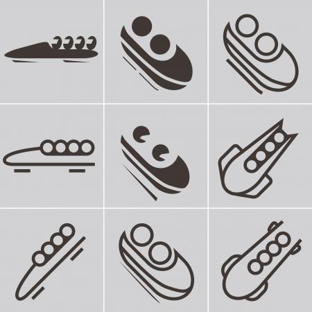 Icône de bobsleigh Vecteurs