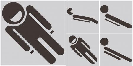 luge: Set toboggan icons