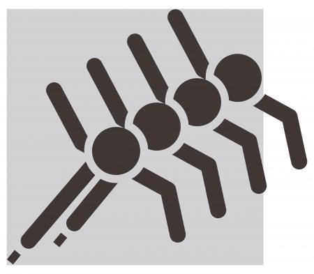 Winter sport icon - short treck Vector