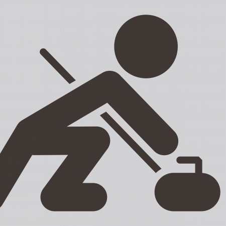 Sport icon - Curling Vector