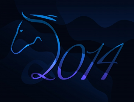 Card - year of the horse Vector