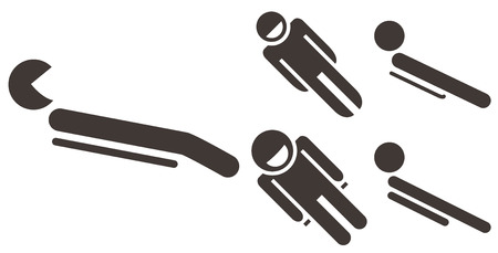 Set toboggan icons Vector
