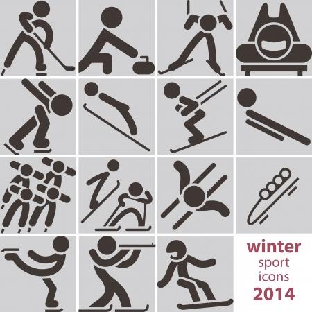 winter sport: Winter sport icons 2014
