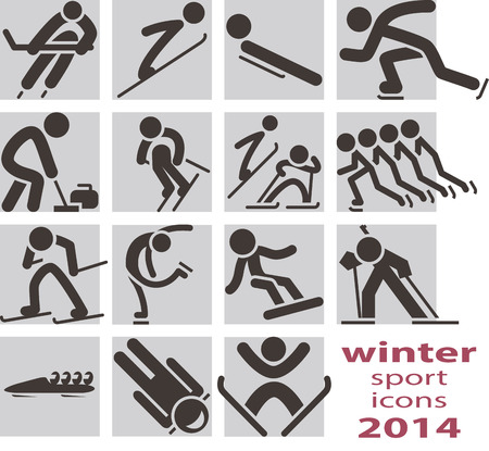 Winter sport icons 2014 Vector