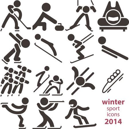 Winter sport icons 2014
