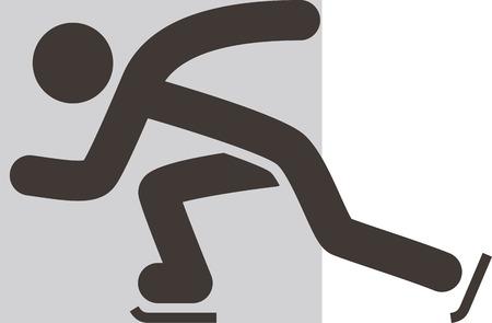 winter sport: Winter sport icon - Skate icon