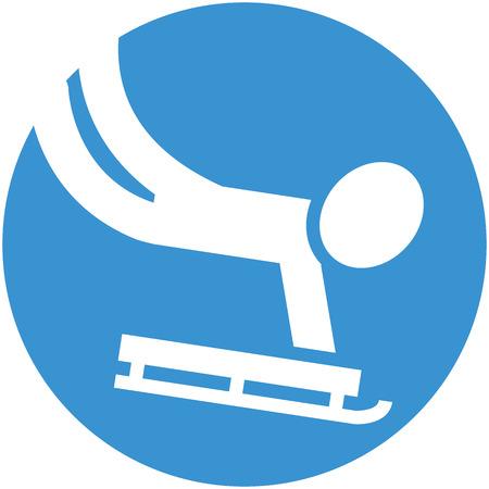 winter sport: Winter sport icon - Skeleton icon