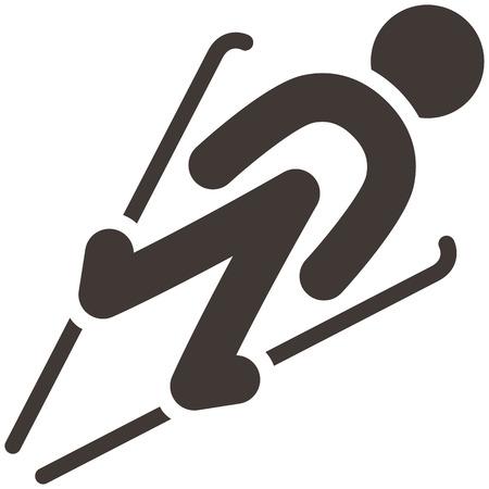 winter sport: Winter sport icons - ski jumping
