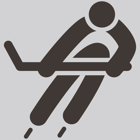 Winter sport icon - ice Hockey icon Vector