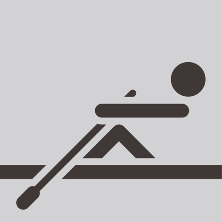 Summer sports icon -  rowing icon Vector