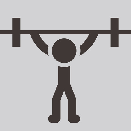Summer sports icons -  weightlifting icon Vector