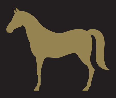 horse silhouette: Silhouette of horse Illustration