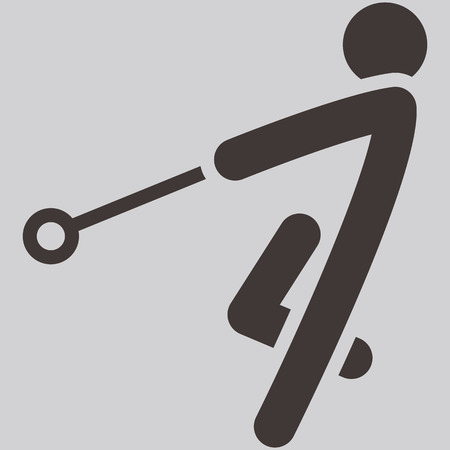 Summer sports icons -  hammer throw icon Vector